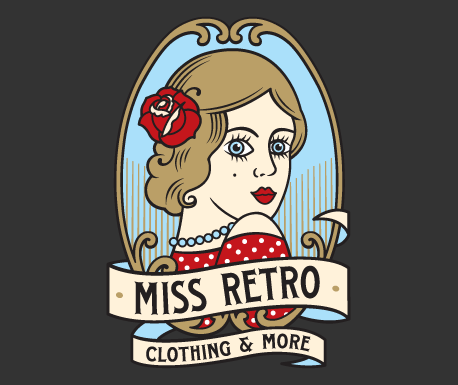 Miss Retro logo design