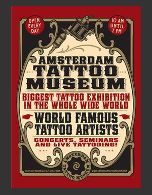 Amsterdam Tattoomuseum design work