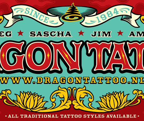 Dragon Tattoo banner design