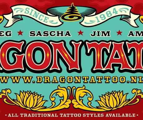 Dragon Tattoo banner design