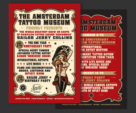 Flyer Amsterdam Tattoo Museum