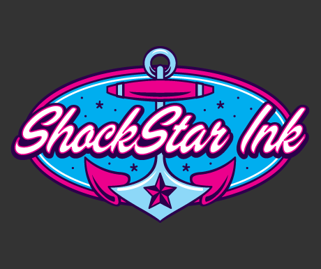 Logo design voor ShockStar Ink