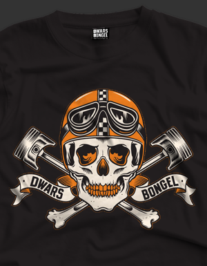 T-Shirt Dwarsbongel Racing Skull