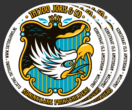 Sticker ontwerp voor Tattoo Joris & Co.