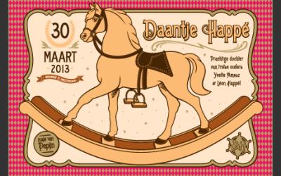 Geboortekaartje? Geboorteposter voor Daantje de wereldkampioen!