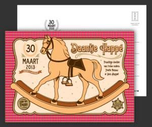 Geboortekaart Daantje Happé , ontwerp, design