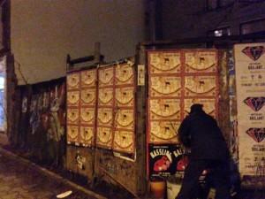 Geboorteposter, plakken, Amsterdam
