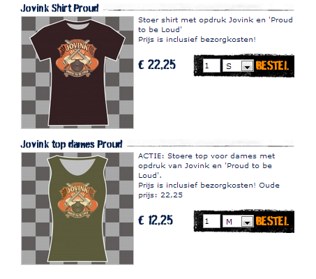 jovink, t-shirt, dames. heren