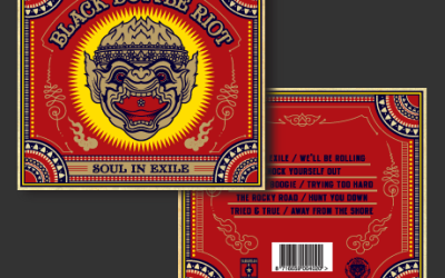 Black Bottle Riot album artwork voor 'Soul in Exile'